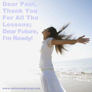 Thanks past, welcome future