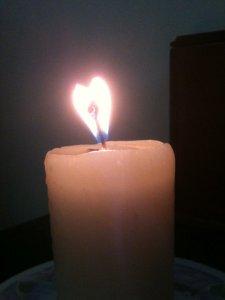 corazon en la vela