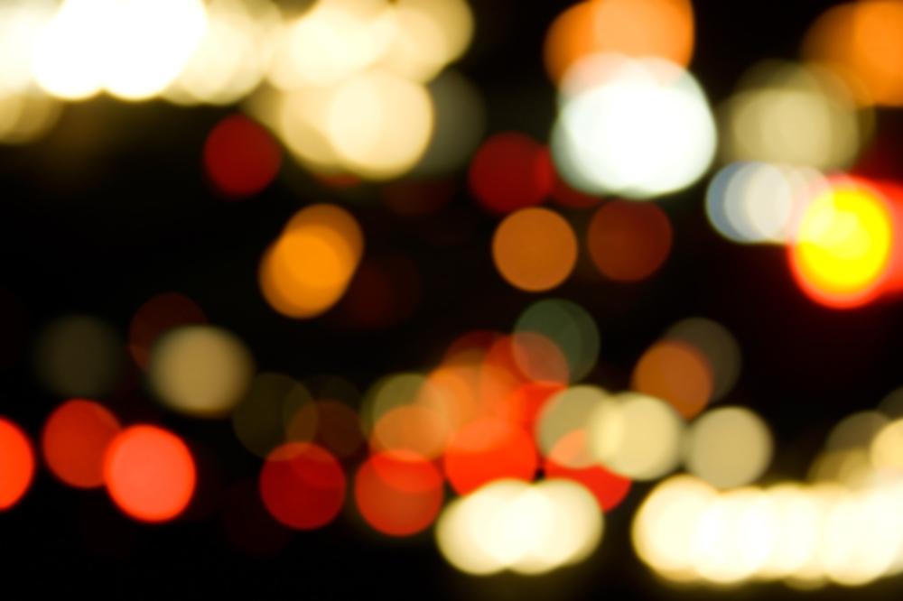 luz color borrosa